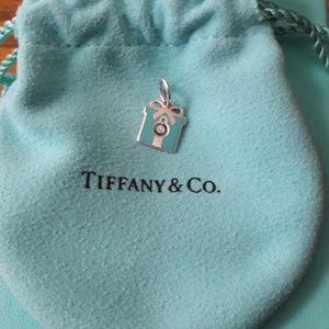 Tiffany & Co Blue enamel charm with diamond